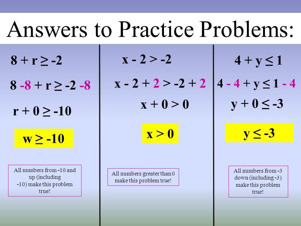 Solving Inequalities Problems