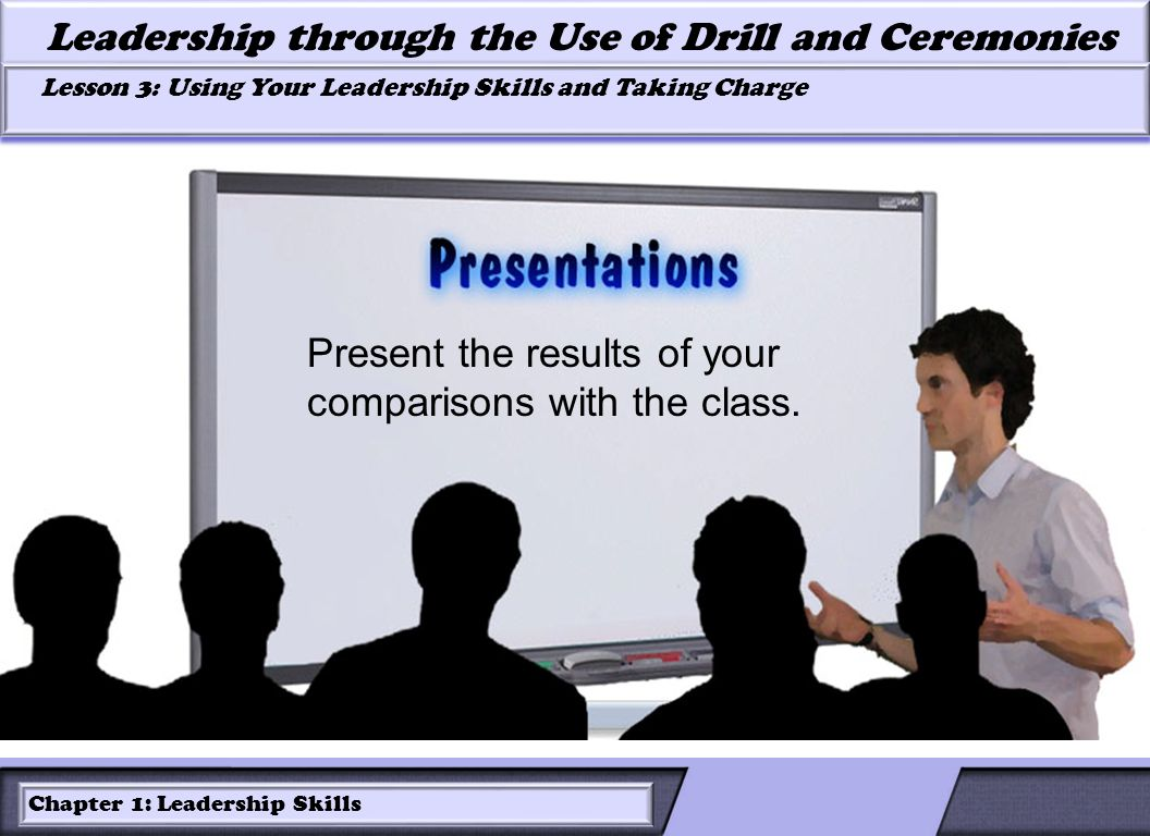 Present the results of your comparisons with the class.