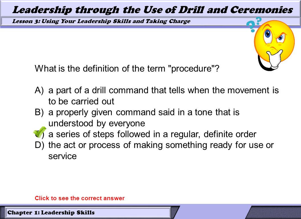 What is the definition of the term procedure