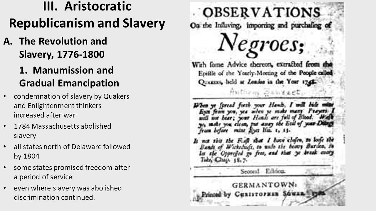 the institutions of slavery during the aristocratic rule The early cape slave trade  the fold of one of the most terrible institutions of the last centuries, the slave  during the last decades of voc rule however .