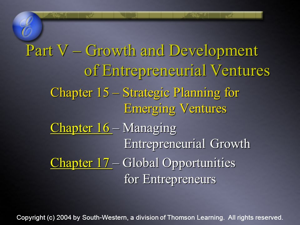 growth and strategic planning for entrepreneurship To discuss some of the reasons why entrepreneurs do not carry out strategic  planning 3 to outline entrepreneurial strategy and some benefits.