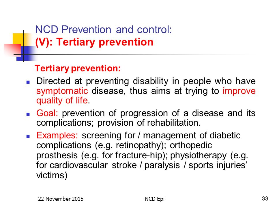 Non-Communicable Disease: Epidemiology, Prevention ...