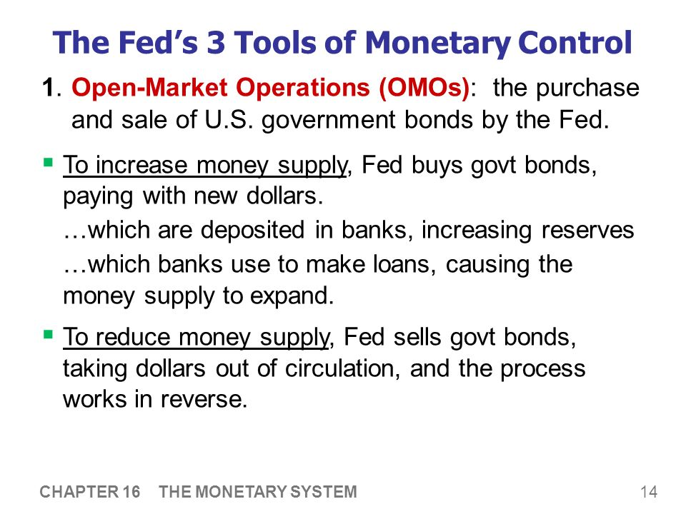 how fed uses open market operations (3) open market operations (omo)  the fed uses omo to affect the federal  funds rate, which is its mostly widely watched interest-rate target    expansionary monetary policy calls for open-market purchases: fed buys  securities, pays by.