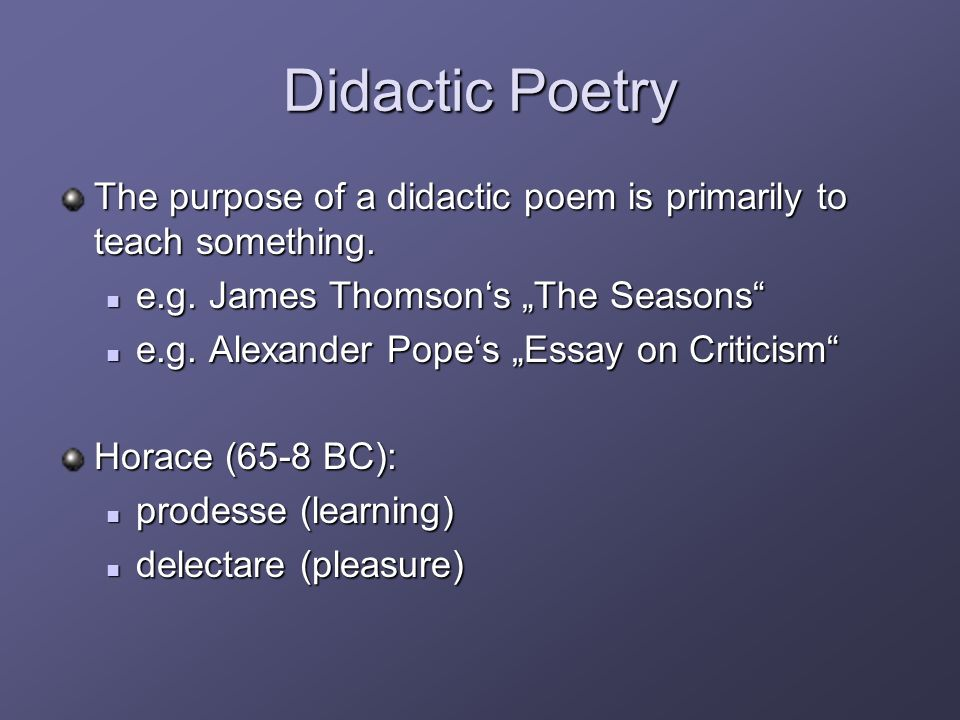 a didactic essay Essays research papers - jean luc godards weekend as didactic self-reflexive cinema.