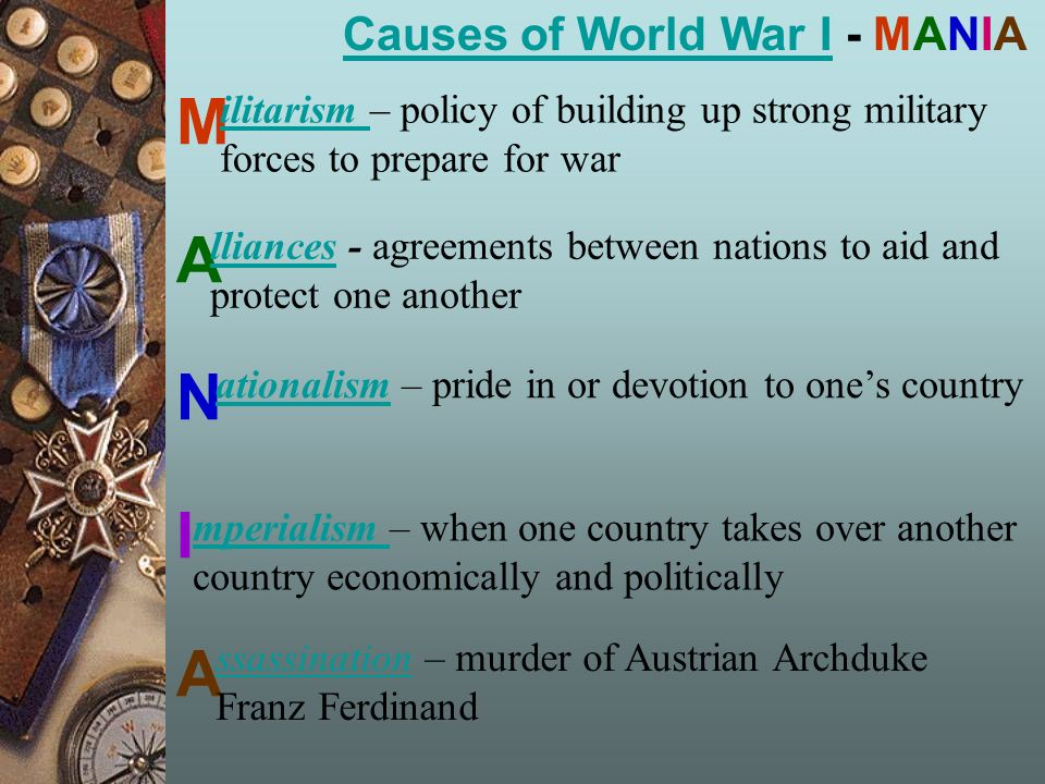 an introduction to the causes and effects of world war one World war ii can be rightly called one of the most significant events in the history of humanity it had a significant impact on the development of the entire world, and resulted in the revision of many socio-political doctrines, policies, and principles of international relations.