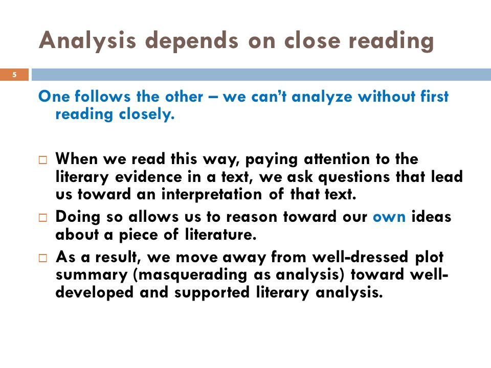 Various Types of Literary Analysis