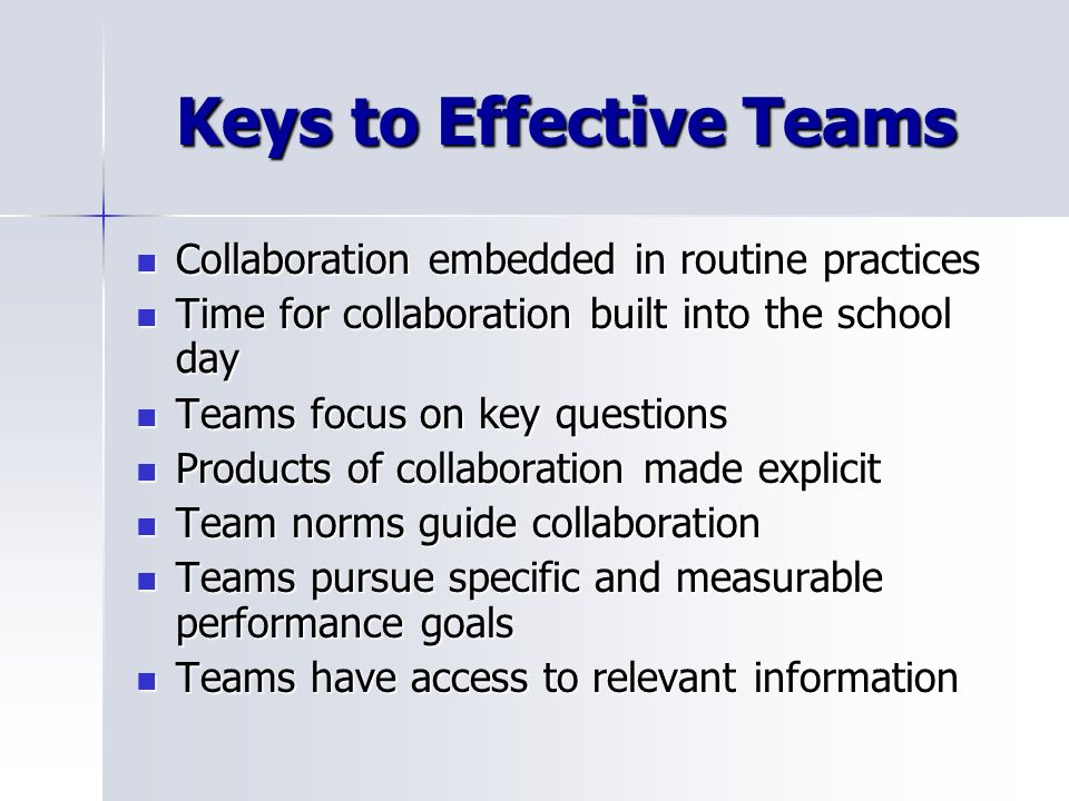 Keys to Effective Teams