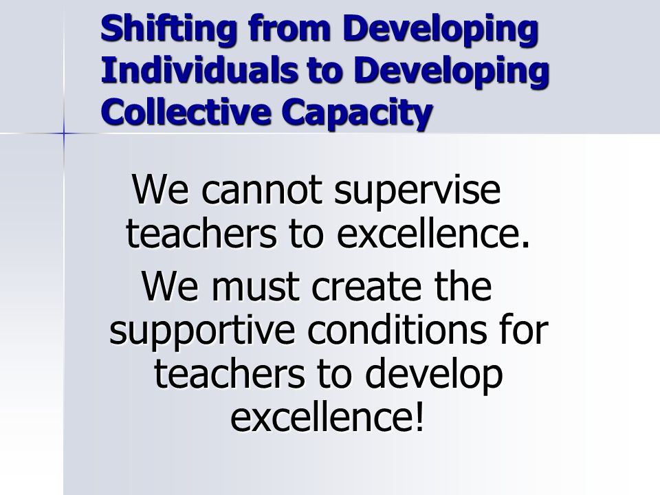 Shifting from Developing Individuals to Developing Collective Capacity