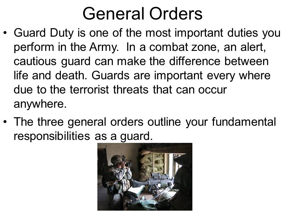 importance of following orders essay