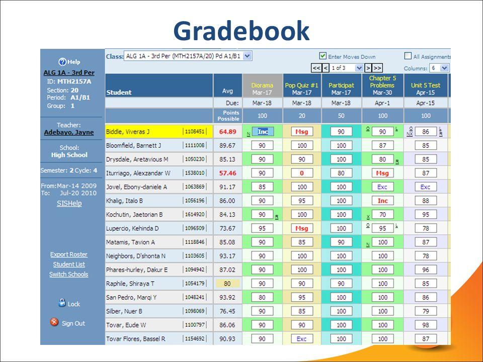 gb gradebook