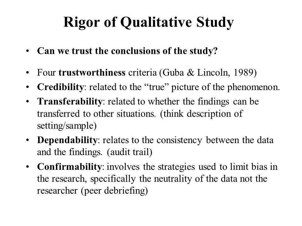 qualitative critique essay