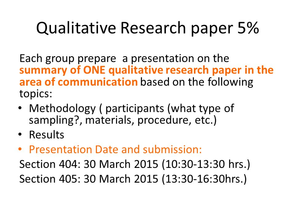 format for qualitative research paper