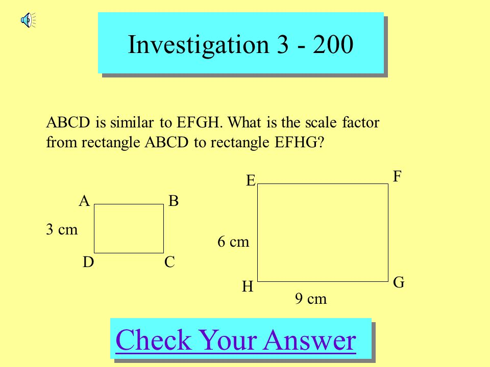 how to find the scale factor of a rectangle