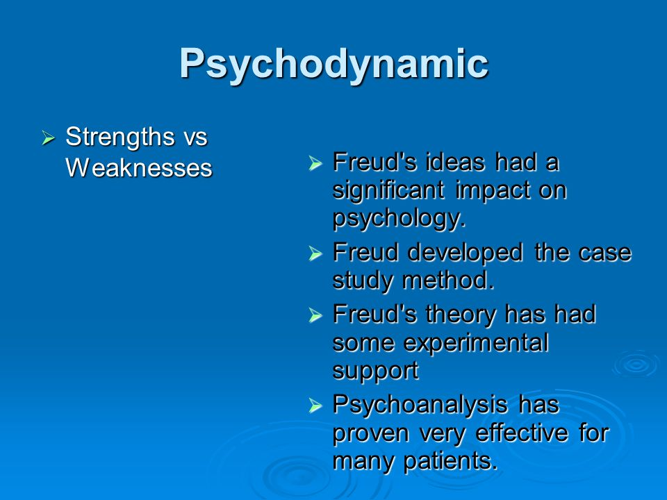 Psychodynamic vs behavioral essay