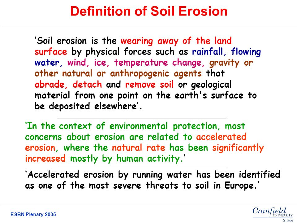 identifying risk areas for soil erosion in europe ppt