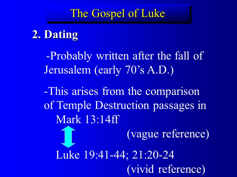 an examination of the gospel of luke