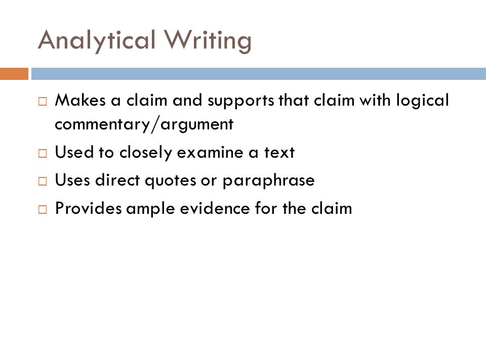 state support explain paragraph structure ppt video online  analytical writing makes a claim and supports that claim logical commentary argument used