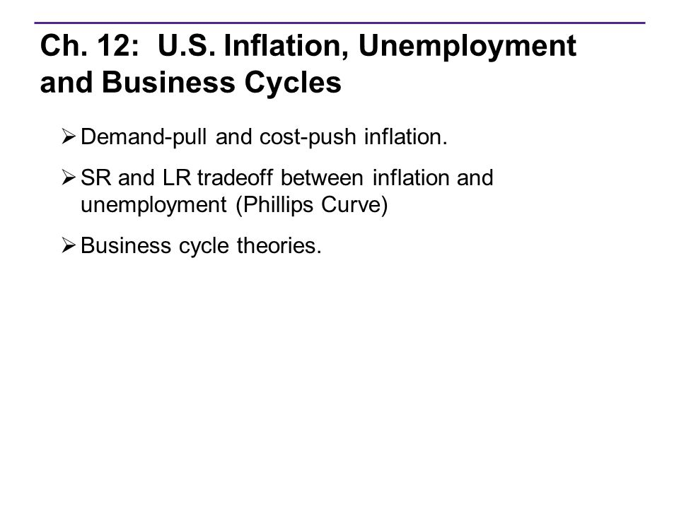 Unemployment inflation in the u s
