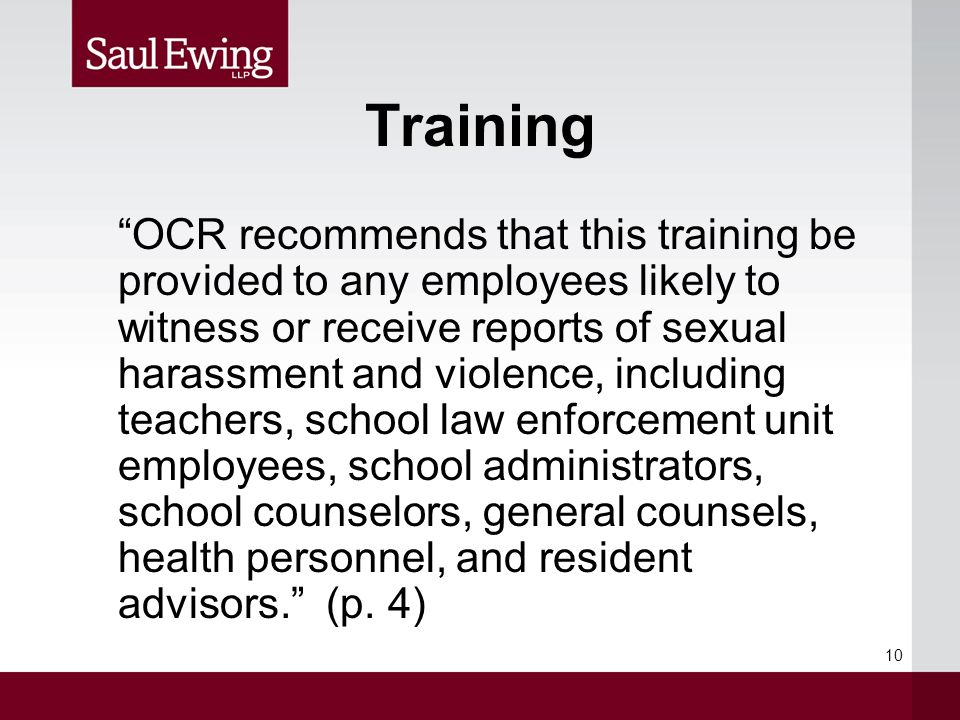 Title ix sexual harassment training