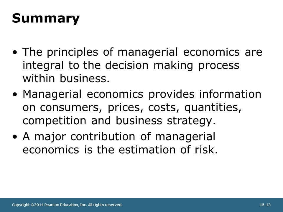 Buy managerial economics case study examples