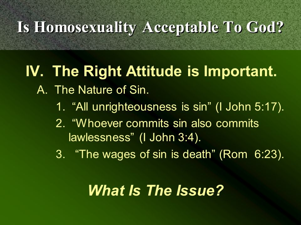 homosexuality and god