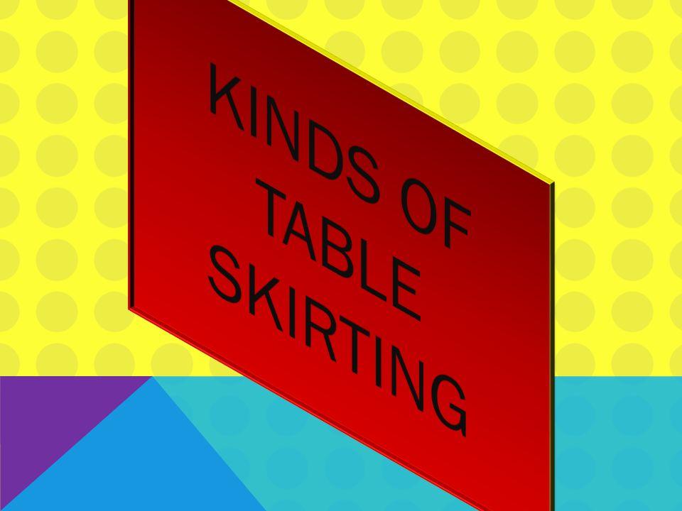 8 Kinds Of Table Skirting