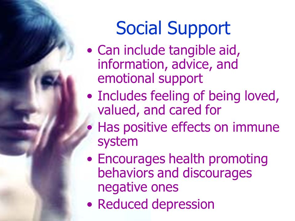 social support system The importance of social support for rural mental health susan letvak, phd, rn letvak, s (2002) the importance of social support for.
