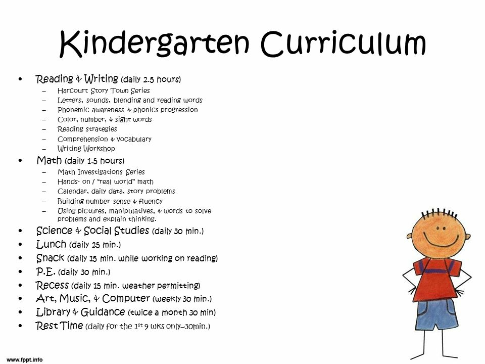 kindergarten curiiculum Discover what's included in our fourth grade curriculum, lesson descriptions and activities to help guide your child toward academic skills.