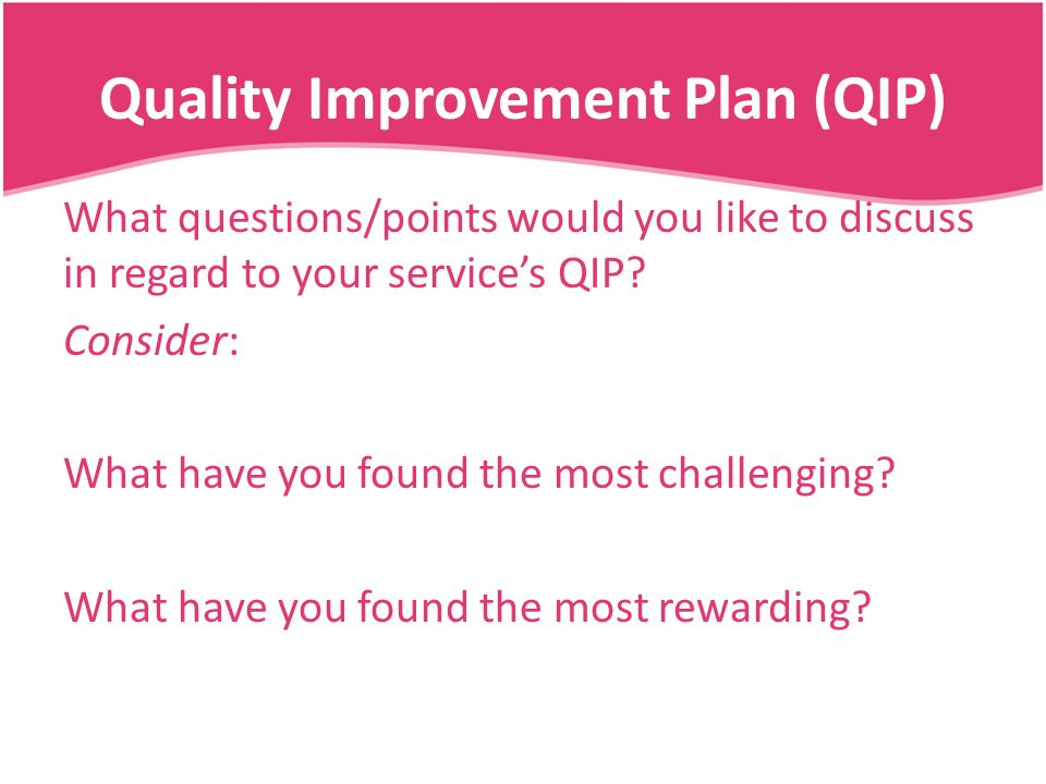 quality improvement plan Quality goals b quality improvement plan effectiveness - 1 how will the health center assess effectiveness of overall qi plan • example: primary care quality improvement toolkit of forms.
