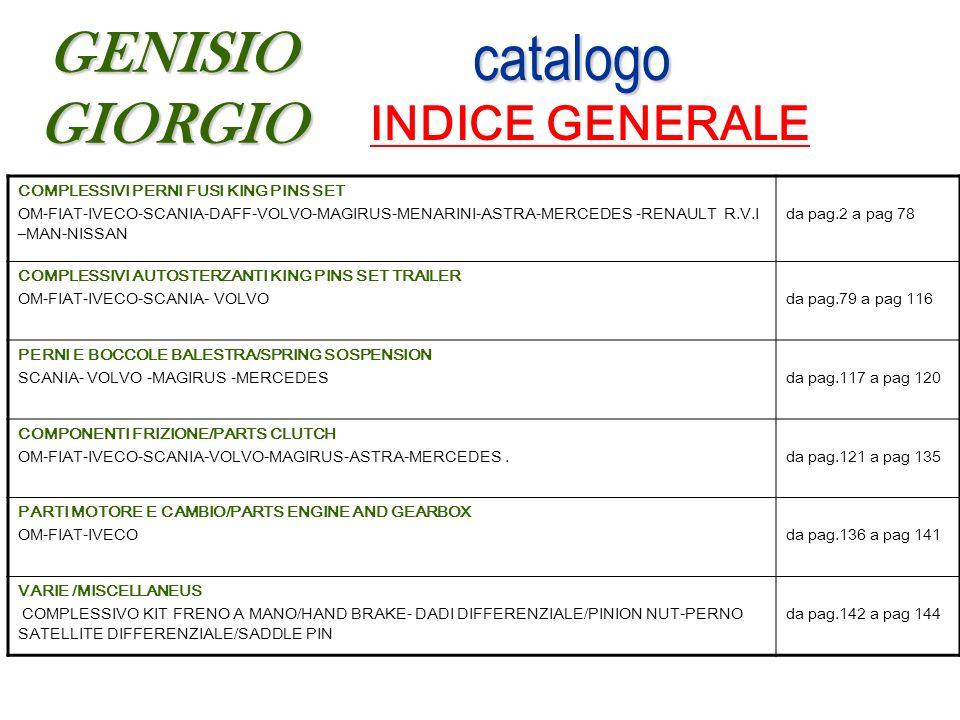 catalogo INDICE GENERALE