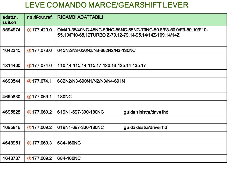 LEVE COMANDO MARCE/GEARSHIFT LEVER