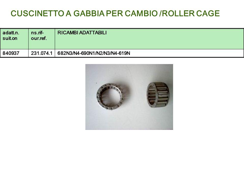 CUSCINETTO A GABBIA PER CAMBIO /ROLLER CAGE