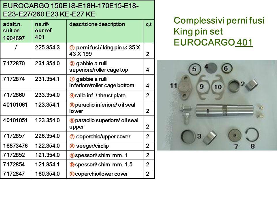 Complessivi perni fusi King pin set EUROCARGO 401