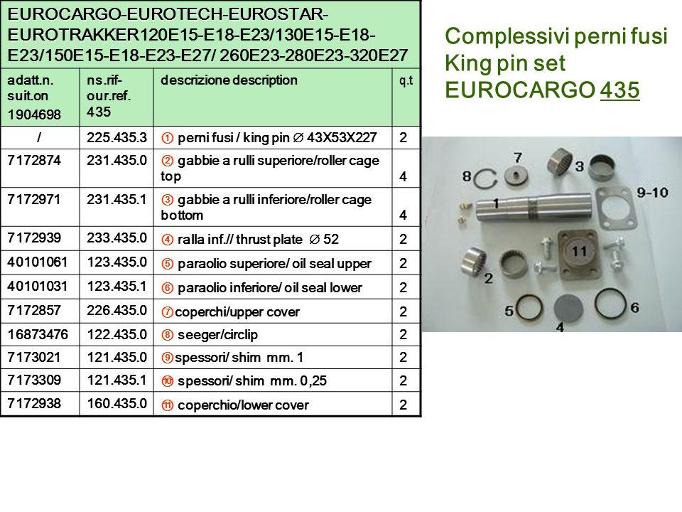 Complessivi perni fusi King pin set EUROCARGO 435