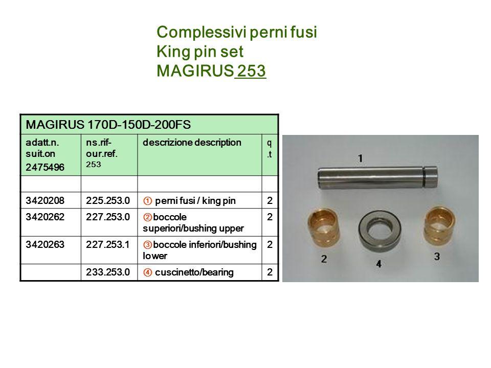 Complessivi perni fusi King pin set MAGIRUS 253