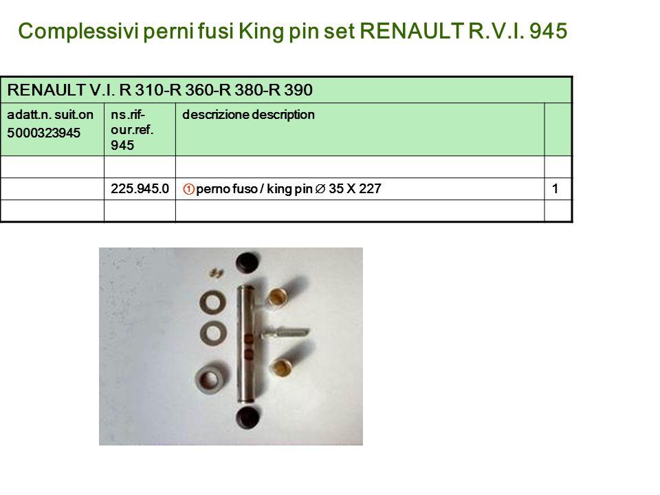 Complessivi perni fusi King pin set RENAULT R.V.I. 945
