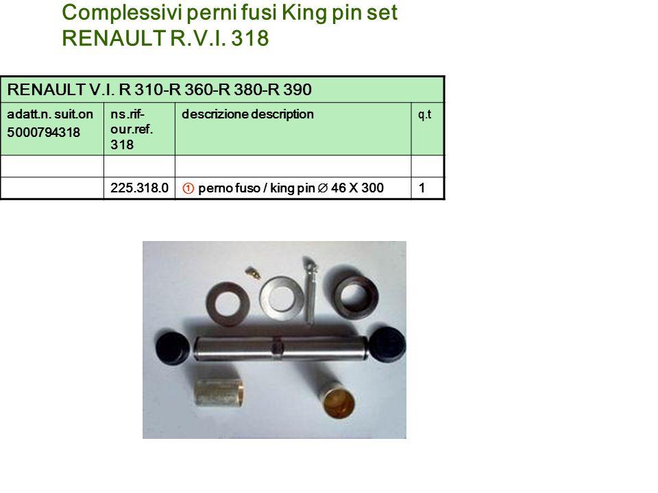 Complessivi perni fusi King pin set RENAULT R.V.I. 318