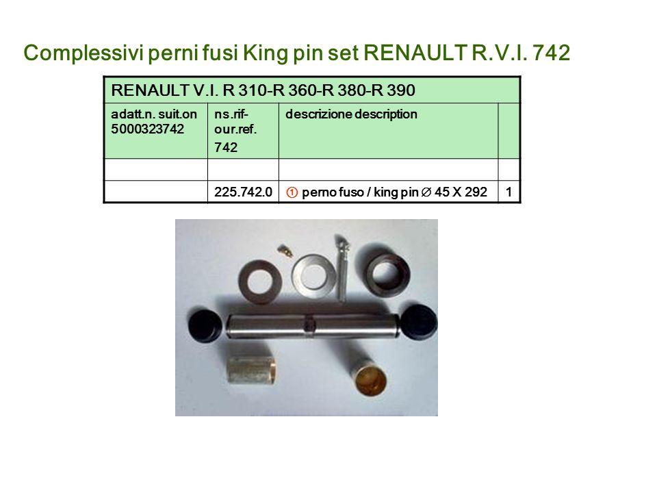 Complessivi perni fusi King pin set RENAULT R.V.I. 742