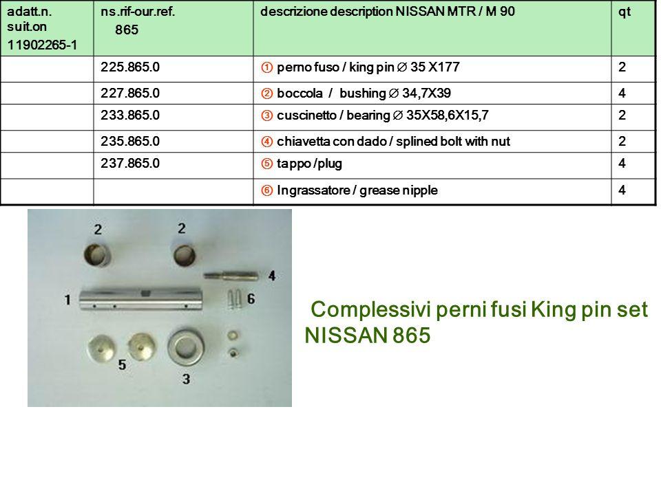 Complessivi perni fusi King pin set NISSAN 865