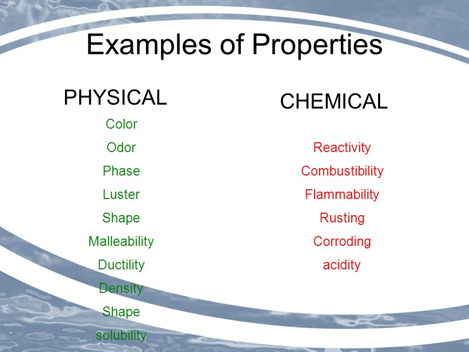 Chemical and Physical Properties of Matter - ppt video ... What Are Some Examples Of Physical Properties
