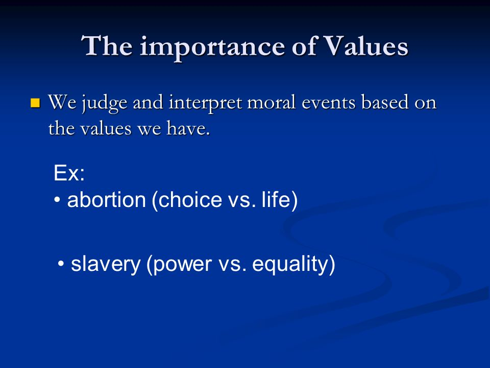 The importance of morals and values in shaping our society