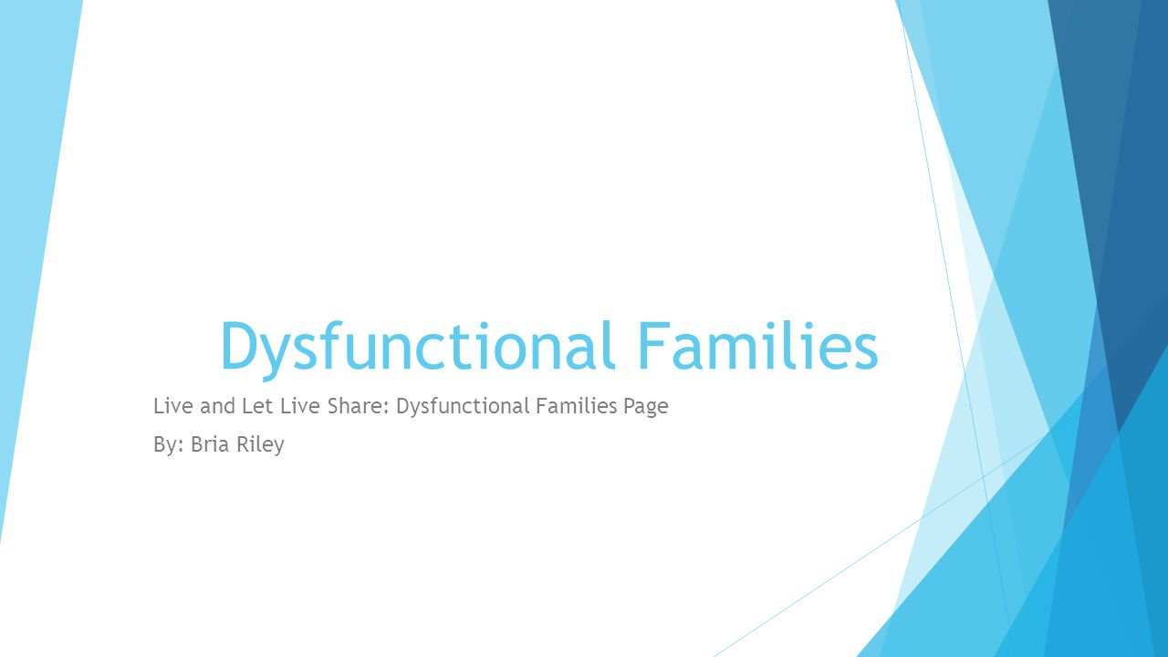 disfunctional familys 1 Family roles are established early, and negative conditioning can last a lifetime there is a lot of information regarding dysfunctional families and the unhealthy roles that are played in this kind of family system.