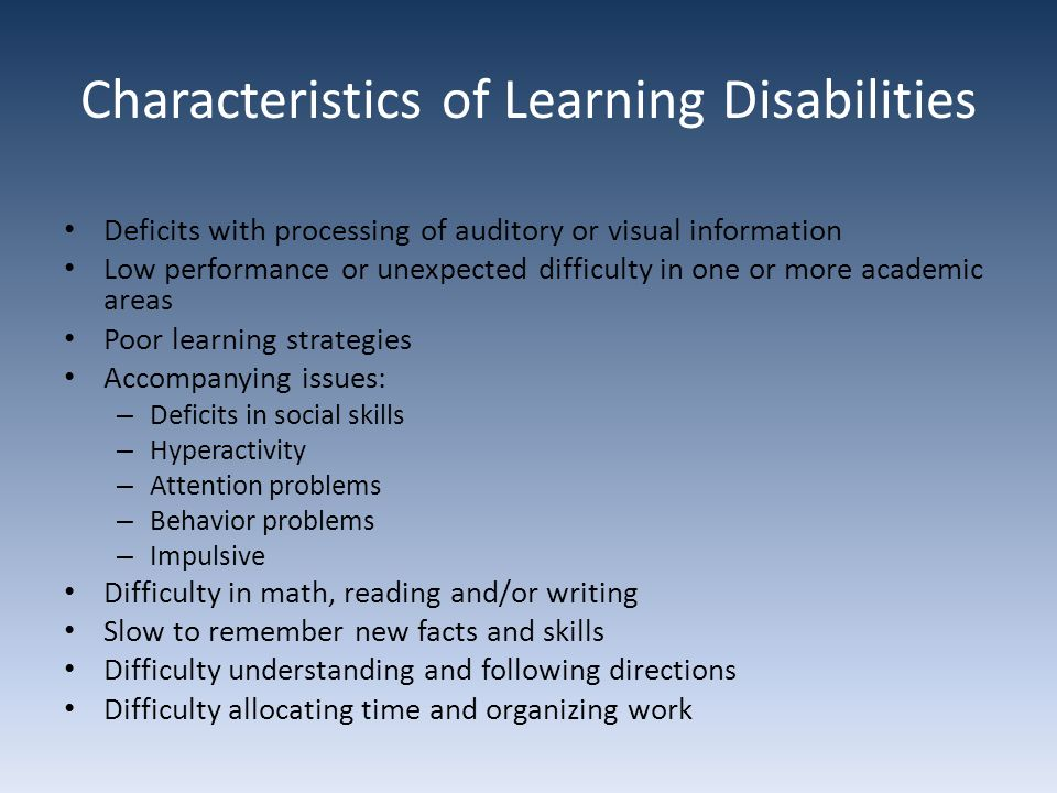 understand the nature and characteristics of learning disability Defining, characteristics, impact on learning, and teaching strategies for  the  often hidden nature of intellectual disabilities within other disability classifications   the child with developmental delays will learn and understand far fewer  things.