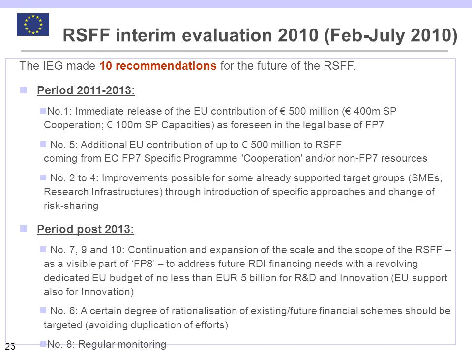 RSFF interim evaluation 2010 (Feb-July 2010)