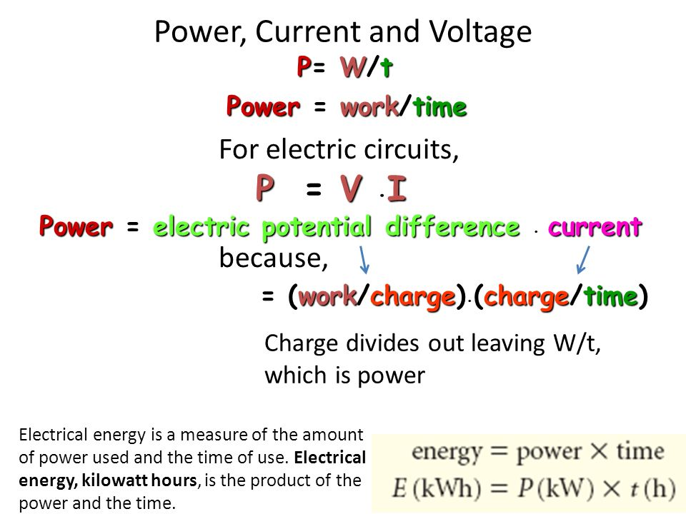 power energy and time relationship of action
