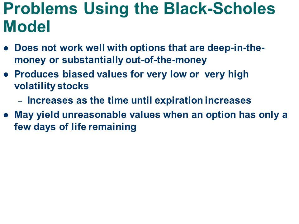 Stock options black scholes model