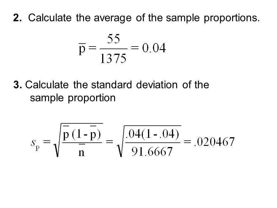 how to calculate change in proportion