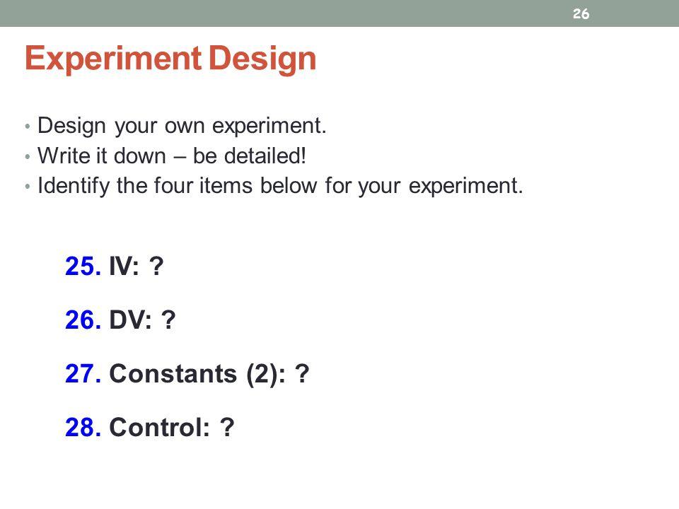 Identifying Variables ppt video online download – Experimental Design Worksheet