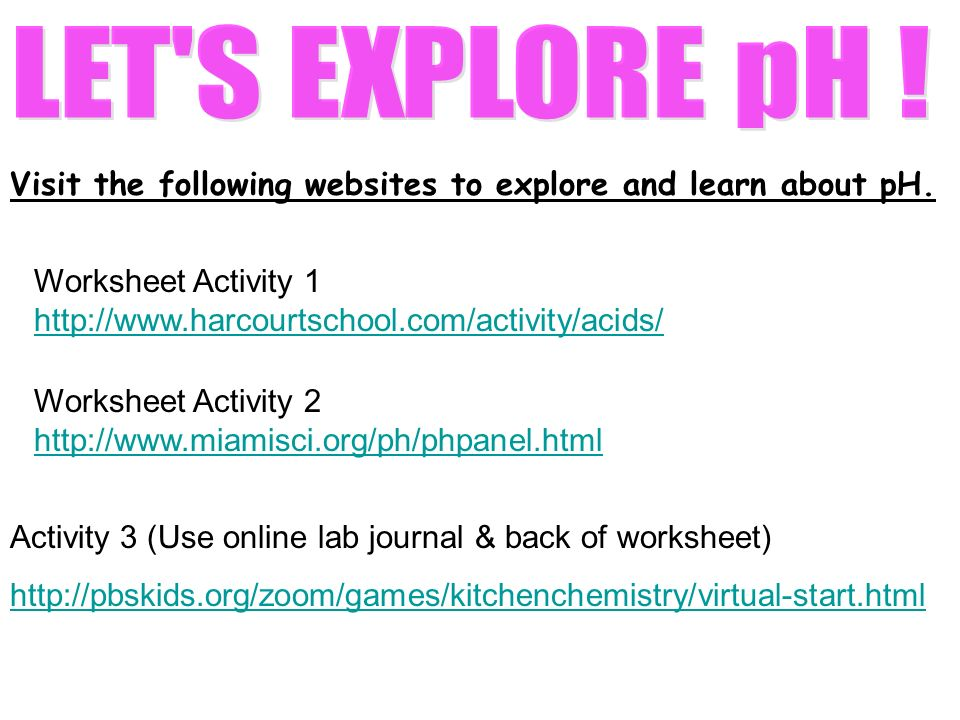 Hint Look at your charts on the pink worksheet ppt video online – Ph Worksheet