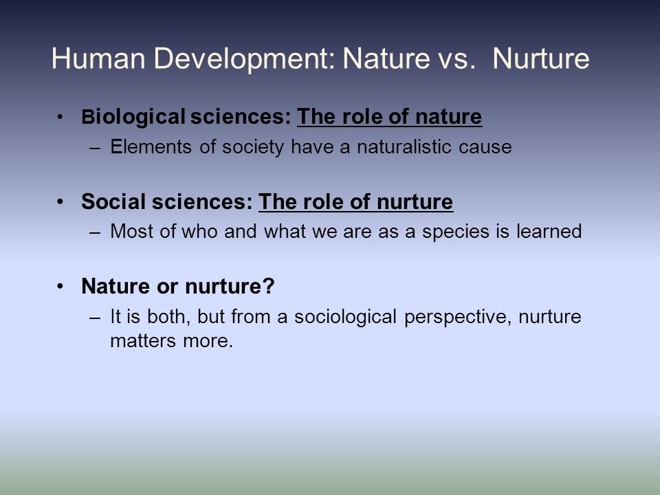 Nature Vs Nurture Sociological Perspective